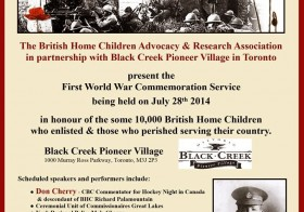 28 Jul 2014 – First World War Anniversary Ceremony